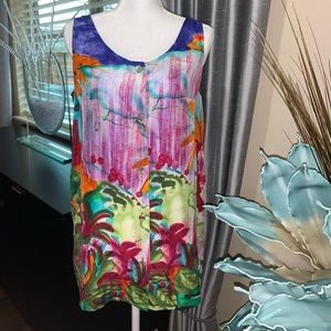 Carole Little 100% silk sleeveless top
